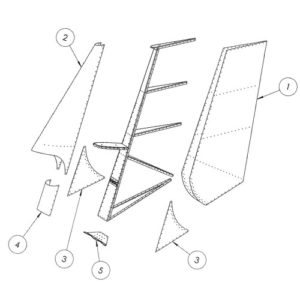 Rudder Assembly: STOL CH 750 Super Duty