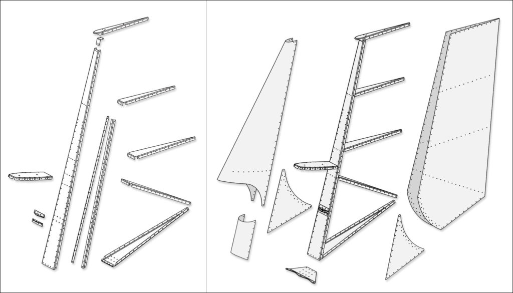 Rudder assembly (illustrative purposes only)